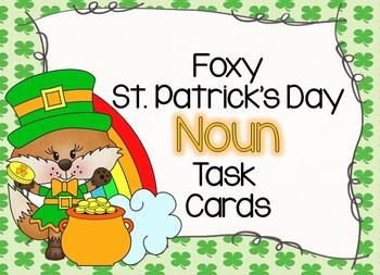 NOUNS: A Foxy St. Patrick's Day Noun Task Cards Set