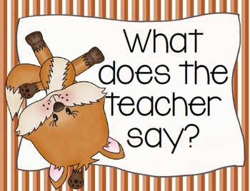 """Foxy """"What Does the Teacher Say"""" Brag Tags"""