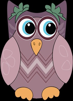 A Freebie Purple Owls Clipart Pack {Messare Clips and Design}