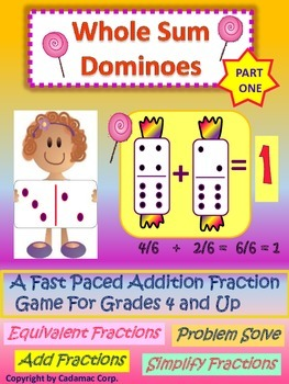 """Adding Fractions With Dominoes is """"Hands On"""" Fun!"""