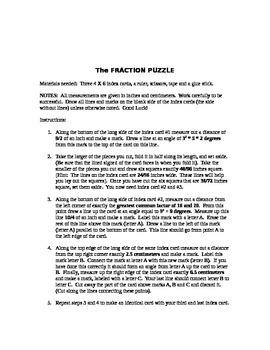 A Fraction Puzzle Project