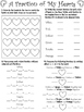 A Fraction of My Hearts-Valentine's Day Fraction Activity