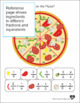 A Fraction of Pizza Play Set plus Worksheets
