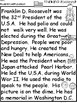 A+ Franklin D. Roosevelt Comprehension For Guided Reading...American Presidents