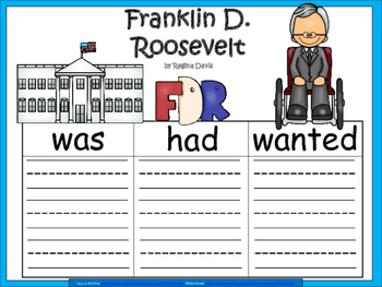 A+ Franklin D. Roosevelt... Three Graphic Organizers