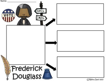 A+ Frederick Douglass... Three Graphic Organizers