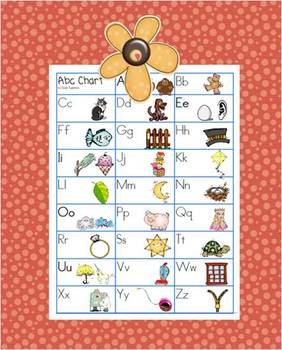 A Free Alphabet Chart