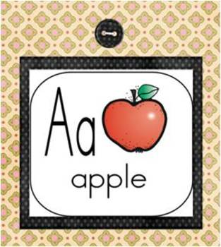 A Free Alphabet Chart for Above Chalkboard or for Word Wall