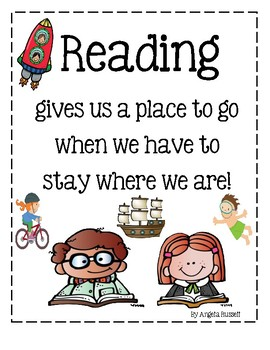 Reading Poster ~ Freebie