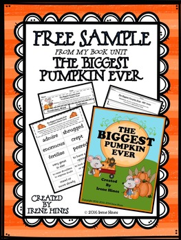A Free Sample From The Biggest Pumpkin Ever Book Unit