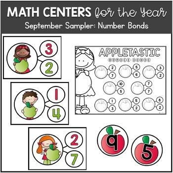 A Free Sampler of Math Centers for the Year