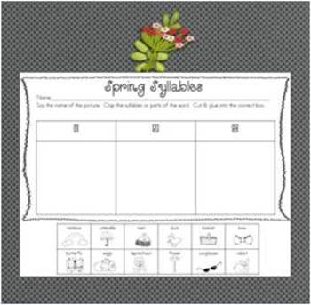 A Free Spring Syllable Match Up