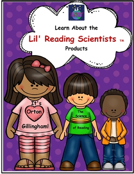 A Freebie!  Learn About the Lil' Reading Scientists Teaching Products