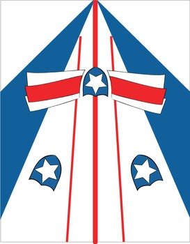 A Freebie Patriotic Shield Banner and Foldable Paper Airplane