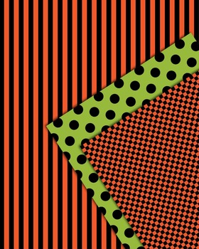 A Freebie for Halloween Season  - Checkered, Striped and Polka Dotted Papers