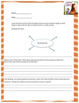 """A Fresh Idea"" 5th Grade Reading Wonders Unit One"