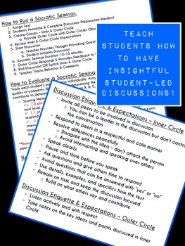 A Fresh Look at Socratic Seminars! {CCSS - Speaking & Listening}