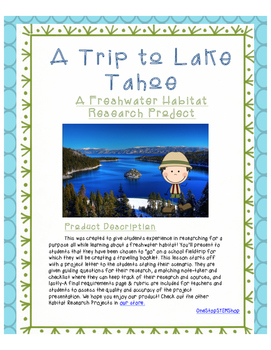 A Freshwater Habitat Research Activity- A Trip to Lake Tahoe