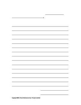A Friendly Letter Activity Template and Rubric