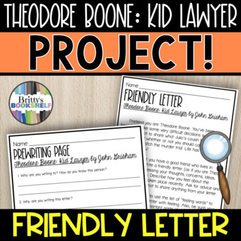 Theodore Boone: Kid Lawyer - A Friendly Letter
