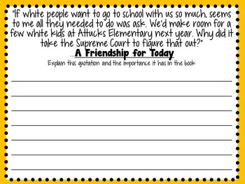 A Friendship for Today by Patricia McKissack- A Complete Novel Study!