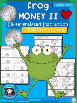 A+ Frog Money II Math: Differentiated  Practice