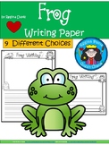 frog writing paper