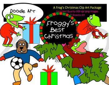 A Frog's Christmas Clipart Pack