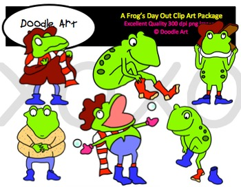 A Frog's Day Out Clipart Pack