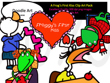 A Frog's First Kiss Clipart Pack