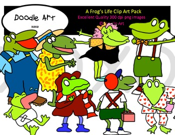 A Frog's Life Clipart Pack