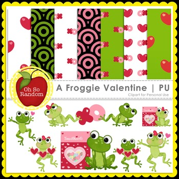 A Froggie Valentine {Graphics for Personal Use}