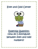A Froggy Even and Odd Math Center!