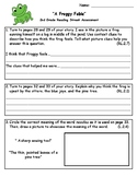 A Froggy Fable 2nd Grade Reading Street Assessment