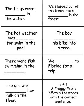 A Froggy Fable, High-Frequency Words, Reading Street