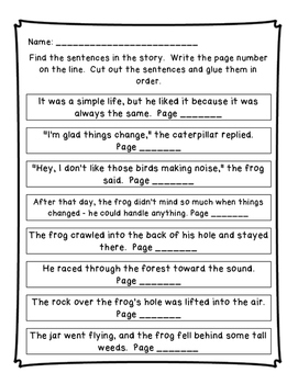 A Froggy Fable: Reading Street Unit 4 Week 1 Resource Pack