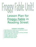 A Froggy Fable - lesson plan, sub plans