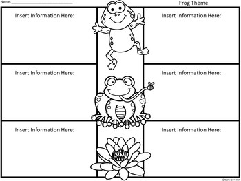 A+ Frogs: Easy Plans...Editable Papers For Frog Lessons