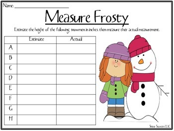 """A """"Frosty"""" Day [A Snowman Inspired Unit]"""