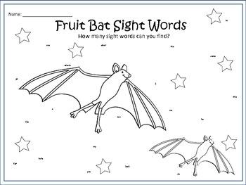 A+ Fruit Bats & Sight Words