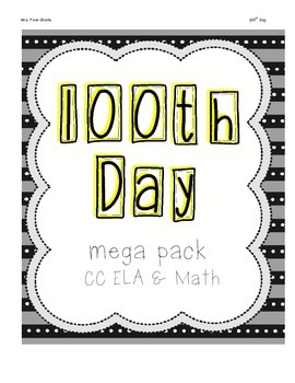 A Full Day of 100th Day Activities - Over 40 pages