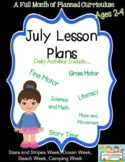 A Full Month of Lesson Plans for July