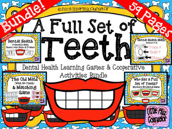 A Full Set of Teeth Bundle: Dental Health Cooperative Play & Math