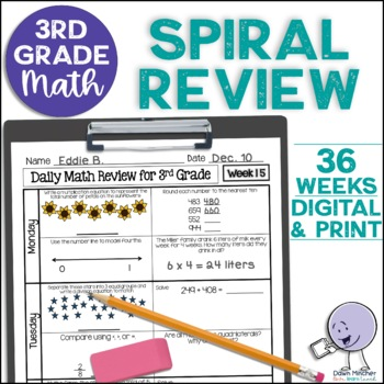3rd Grade Morning Work | 3rd Grade Spiral Math Review | Year-Long Bundle