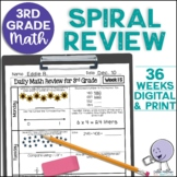 3rd Grade Morning Work | 3rd Grade Spiral Math Review | Year-Long Bundle