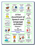 A Fun Assortment of Speech and Language Activities! Volume 1