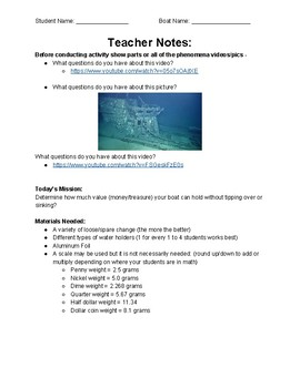 A Fun Engaging NGSS & Engineering Activity - Boat Challenge