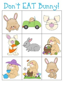 Don't EAT Bunny! (A Fun-Filled Spring Game for the whole class!)