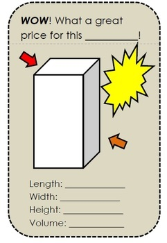 A Fun Review of Volume of Rectangular Prisms and Cylinders/Common Core Aligned