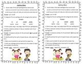 A Fun and Creative Spelling Homework Menu